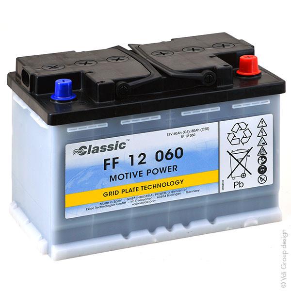 Batterie GNB Classic FF 12V 60000mAh 12FP55 12 FP55 12FP 55
