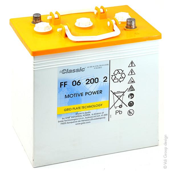 Batterie GNB Classic FF 6V 200000mAh EXIDE FF 06 200 2 EXIDEFF062002 EXIDEFF 062002