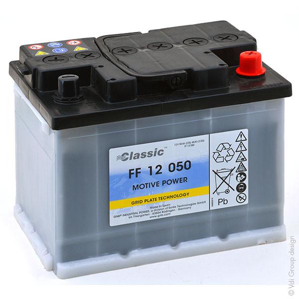 Batterie GNB Classic FF 12V 50000mAh EXIDE FF 12 050 EXIDEFF12050 EXIDEFF 12050