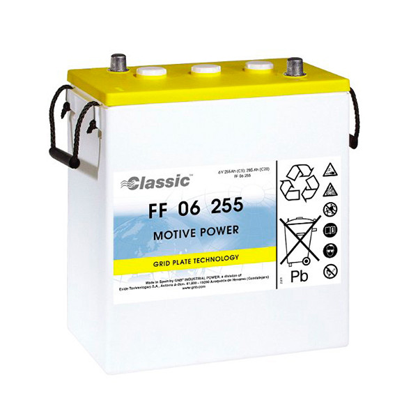 Batterie GNB Classic FF 6V 255000mAh MARATHON CLASSIC FF06255 MARATHONCLASSICFF06255 MARATHONCLASSICFF 06255