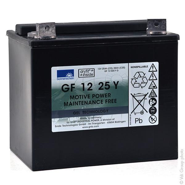 Batterie plomb traction SONNENSCHEIN GF-Y GF12025YG 12V 25Ah M6-M