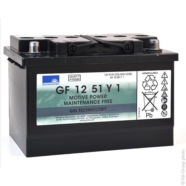 Batterie plomb traction SONNENSCHEIN GF-Y GF12051Y1 12V 51Ah Auto ENERSYS 12 MFP 50 ENERSYS12MFP50 ENERSYS 12MFP50
