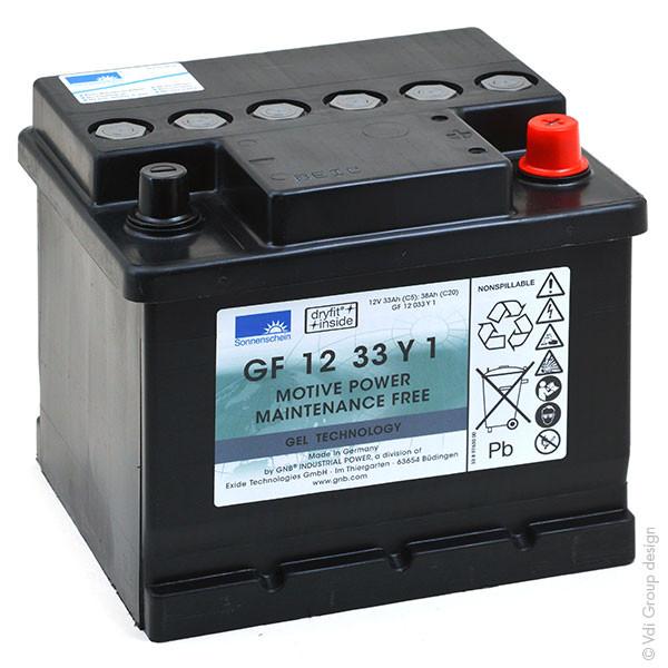 Batterie plomb traction SONNENSCHEIN GF-Y GF12033Y 12V 32.5Ah Auto A512C/38A A512C38A A 512C38A
