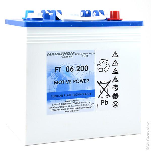 Batterie GNB Marathon Classic FT 6V 200000mAh MARATHON CLASSIC FT 06 200 MARATHONCLASSICFT06200 MARATHONCLASSICFT 06200