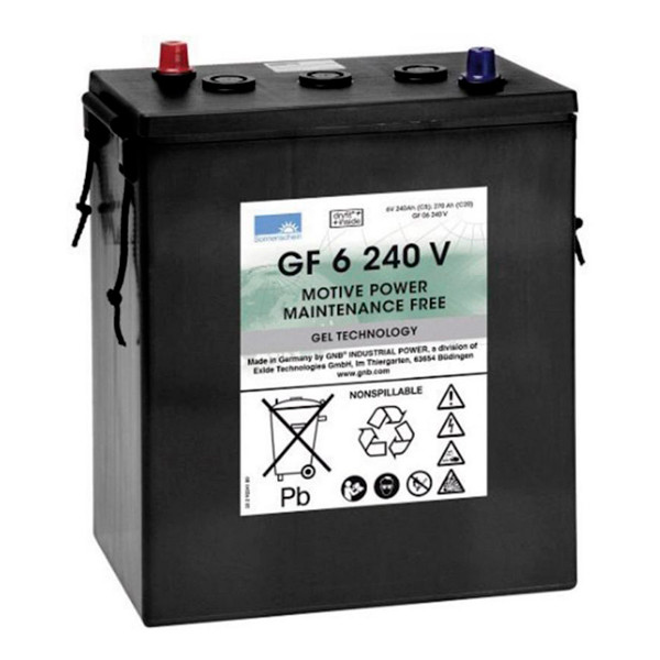 Batterie plomb traction SONNENSCHEIN GF-V GF06240V 6V 240Ah Auto 80564100 ENERSYS 6 MFP 240 ENERSYS6MFP240