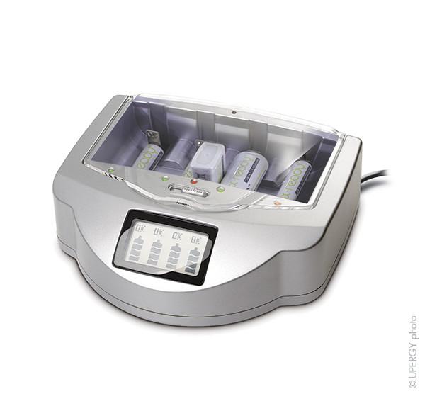 Chargeur piles rapide NX Ready pour 4x AA/AAA ou 4x C/D ou 1x 9V