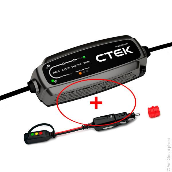 Chargeur plomb CTEK CT5 POWERSPORT + prise CTEK CANBUS Indicator 40.136 40 .136 40. 136