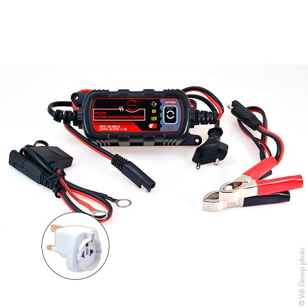 Chargeur plomb/Maintien de charge NX 6-12V/1.2A 100-240V (Intelligent)