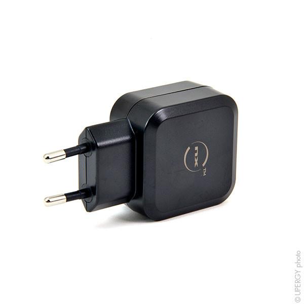 Chargeur secteur double USB 220V avec charge rapide